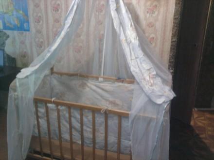 Кроватка велес с балдахином и бортиками. Измаил. фото 1