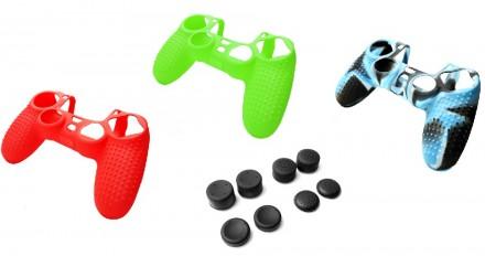 Чехол для геймпада, джойстика Dualshock 4 PS4 + накладки на стики 8 шт. Запорожье. фото 1