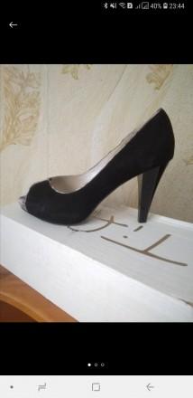 Туфли натуральная замша с вырезаным носочком. Львов. фото 1