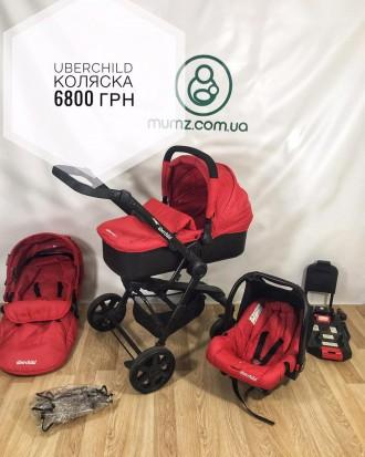 Детская универсальная коляска 3 в 1 Uberchild HD 3 in 1. Сумы. фото 1