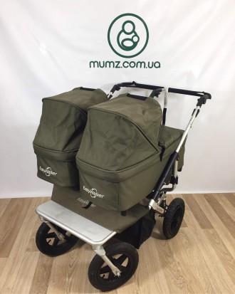 Детская коляска для двойни близнецов погодок EasyWalker 2 в 1 КРУТАЯ!. Сумы. фото 1