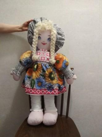 Кукла мягкая тканевая. Ручная работа. 76 см.. Канев. фото 1