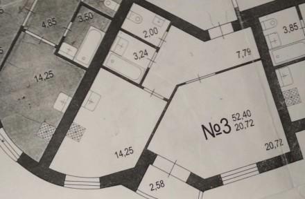 Новобудова,Квартира 52.4 кв.м. Луцк. фото 1