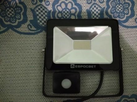 Прожектор світлодіодний з дачиком руху. Винница. фото 1