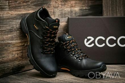 Зимние кожаные мужские кроссовки ботинки Ecco чоловічі шкіряні кросівки  черевики fa1aa24a4e3bf