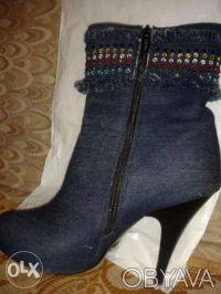 Джинсовые ботинки. Одесса. фото 1