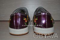 Красивые туфельки-кроссовки с вышивкой  для маленькой модницы - НОВЫЕ -   - ве. Чернигов, Черниговская область. фото 7