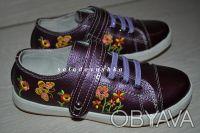 Красивые туфельки-кроссовки с вышивкой  для маленькой модницы - НОВЫЕ -   - ве. Чернигов, Черниговская область. фото 2