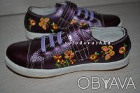 Красивые туфельки-кроссовки с вышивкой  для маленькой модницы - НОВЫЕ -   - ве. Чернигов, Черниговская область. фото 3