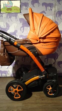 Эксклюзив\экокожа! Коляска 2в1 Tutek Inspire Eco. Хороший выбор колясо. Чернигов. фото 1