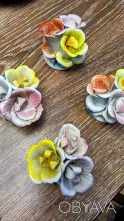 Продам фарфоровые цветы бутон в количестве 4 шт - все за 300 гривень, производст. Одесса, Одесская область. фото 1