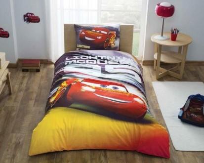 Детское постельное белье Tac Cars Lightning Mcqueen (светится в темноте). Львов. фото 1