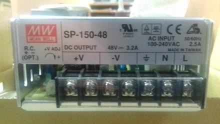 Блок питания SP-150-48 Mean Well. 48V, 3,2A. Новые, в упаковке, не включались.. Одесса, Одесская область. фото 2