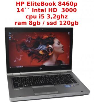 HP EliteBook 8460p - i5 2,5-3.2ghz / RAM 8gb / ssd 120gb / DVD. Львов. фото 1