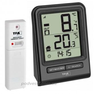 Цифровой термометр для комнаты и улицы с радиодатчиком TFA Prisma.. Киев. фото 1