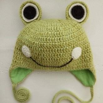 Шапка лягушонок на завязках (осень).. Кременчуг. фото 1