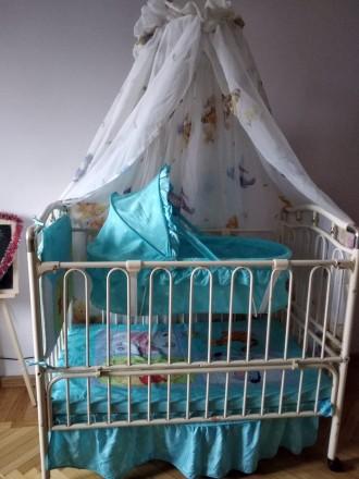 Кроватка металическая, колиска. Черновцы. фото 1