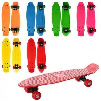 Penny board, пенни борд, скейтборд, детский скейт, светящиеся колеса. Харьков. фото 1
