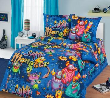 Монстры - яркое постельное белье для детей и подростков (100% хлопок). Львов. фото 1