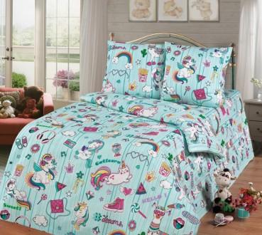 Единороги Dreams - стильное детское постельное белье для девочек (100% хлопок). Львов. фото 1