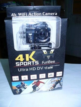 Видеокамера, экшен камера Q6FB 4K, с WiFi, аналог GoPro, с аквобоксом. Одесса. фото 1