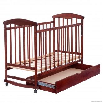 Кроватка-качалка детская с шуфлядкой