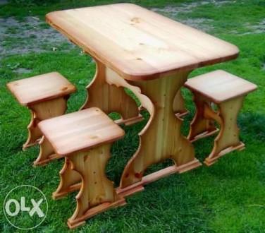 Кухонний стіл + 4 табуретки. Львов. фото 1