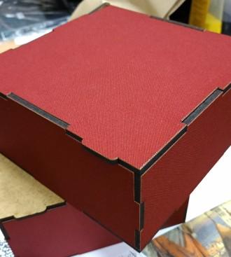 Лазерная резка и отделка деталей тканью с принтом. Харьков. фото 1