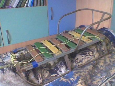 Санки детские из уголка со спинкой. Донецк. фото 1