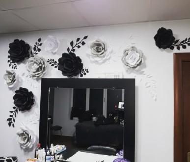 Виготовляю паперові квіти для фотозони та декору стін. Паперові квіти яскраво бу. Снятин, Ивано-Франковская область. фото 3