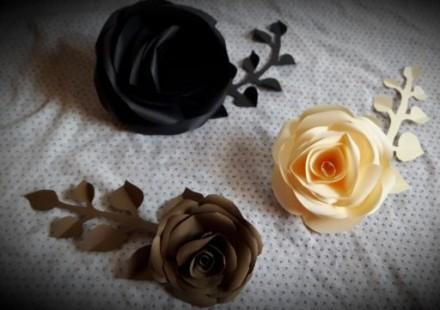 Виготовляю паперові квіти для фотозони та декору стін. Паперові квіти яскраво бу. Снятин, Ивано-Франковская область. фото 4