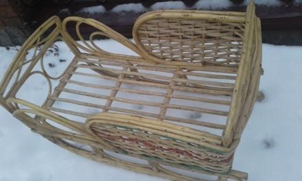 Продам санки плетеные из лозы. Сумы. фото 1