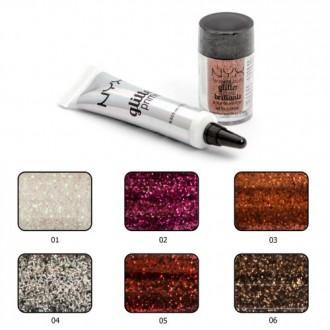 Глиттер+праймер NYX glitter primer and face and body glitter brillants - комплек. Киев, Киевская область. фото 4