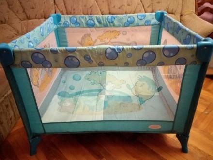 Игровой манеж 90×100 см Baby Care. Львов. фото 1