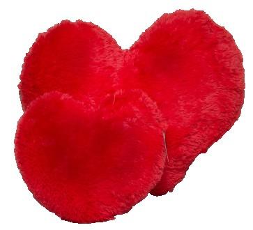 Подушка плюшевая Сердце красное 22 см. Киев. фото 1
