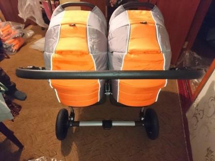 Продам коляску для двойни. Новая,в использовании не была. Комплект полный ( сумк. Ахтырка, Сумская область. фото 5