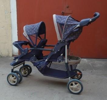 Детская коляска для двойни, близнецов.. Мариуполь. фото 1