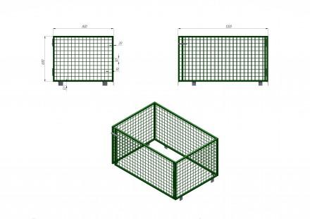 Металлический сетчатый контейнер под поддон. Полтава. фото 1
