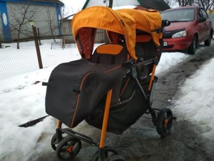 Прогулочная коляска для двойни EasyGo Fusion Duo. Черкассы. фото 1