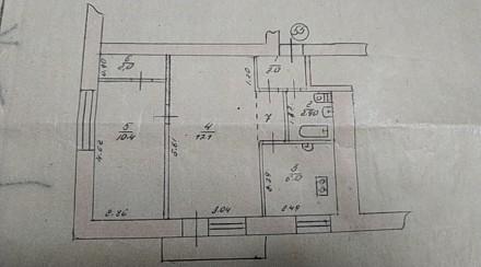 Продам 2-х комнатную квартиру в центре. Квартира на 2-м этаже 4-х этажного дома. Чернигов, Черниговская область. фото 6