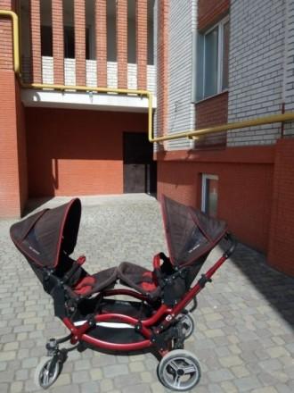 Коляска для двойни двійнят близнят. Тернополь. фото 1