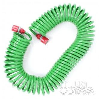Шланг спиральный 15м с конекторами + aдаптер универсальный для конектора 1/2