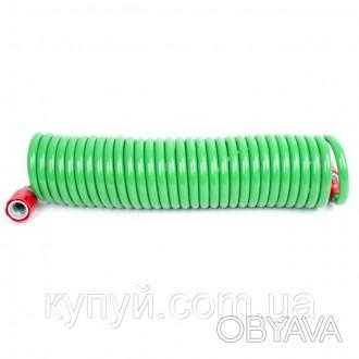 Шланг спиральный 7.5м с конекторами + aдаптер универсальный для конектора 1/2