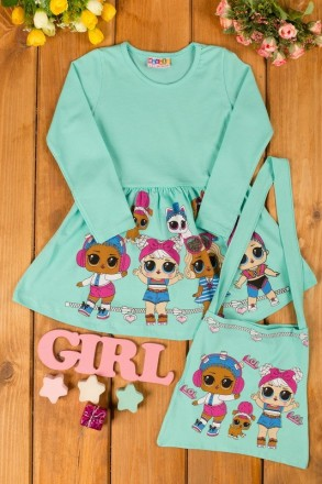 Платье для девочки с куклой лол, платье лол, lol. Киев. фото 1
