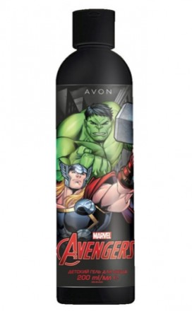 Дитячий гель для душу AVON Marvel Avengers (200 мл). Днепр. фото 1