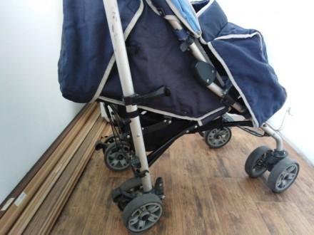 Продам детскую коляску-трость (цвет синий). Сумы. фото 1