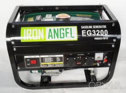 Генератор Iron Angel EG3200   Максимальная мощность (кВт):  3,0   Номинал. Киев, Киевская область. фото 1