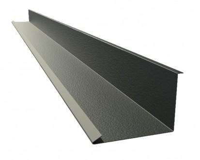Угол внутренний полимер. металл. 0,5мм , L=1м, доборные элементы для крыши. Полтава. фото 1