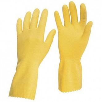 Перчатки хозяйственные латексные. Днепр. фото 1