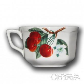 """Чашка """"Глория"""" Вишня 0,35 литра. В упаковке 6 штук.. Слов'янськ, Донецька область. фото 1"""